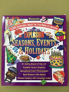 ART EXPLOSION 15,000 Clip Art Images Seasons Events Holidays Windows 95 98 Me XP