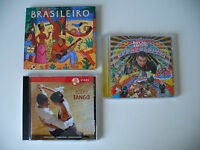 "Albumkonv. ""Brasileiro, Tango und Roy Paci"" 3 Alben Südamerika, CD (Kon. Nr.807)"