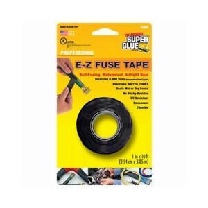 E-Z Fuse Silicone Tape, Black, 1-In. x 10-Ft.