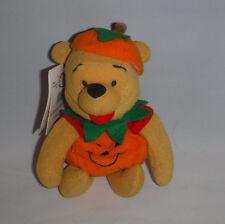 Winnie the Pooh Mini Bean Bag Pumpkin Disney Store w/ Tush and Hang Tags