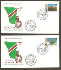 UN Geneva #199-200 Namibia (2) Artmaster FDCs