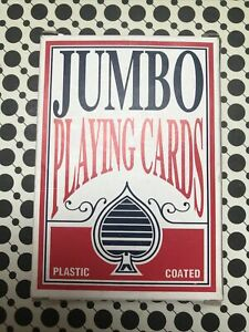 Jumbo Playing Cards Deck Extra Large Cards Playing Cards Pack of 52.Pre-Owned