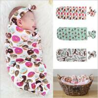 Newborn Baby Swaddle Wrap Soft Blanket Sleeping Bag Sleep Sack Bedding WE
