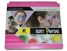 8 Farben Set -  face/bodypainting + 2 Pinsel