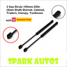 2 Gas Strut 195mm-200n (6mm Shaft) Bonnet, Cabinet, Trailers, Canopy, Toolboxes