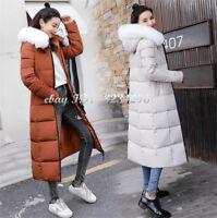 Modern Damenkleidung Winter Baumwollen Jackett Mantel Kapuzemantel Lange Collge