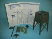 1984 GI Joe Watch Tower Battle Station Playset & Blueprints *Complete -No Decals