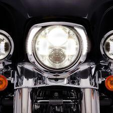 Ciro Chrome LED Headlight Bezel for Harley - 45200