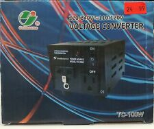 Goldsource TC-100W Voltage Converter 220/240V to/from 110/120V, 100 Watts - NEW