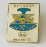 ESSO Imperial Oil Pin Badge 1990 AWG Sponsor Rare Vintage (H1)