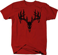 Deer Skull Antlers Hunting Archery Buck Rack Color T-Shirt