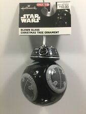 2018 Hallmark DISNEY STAR WARS BB-9E BLACK DROID Glass Christmas Ornament NEW