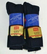 Vtg 1980's Hanes Red Label Dress Socks, Acrylic 6 Pairs in Promo Package 10-13