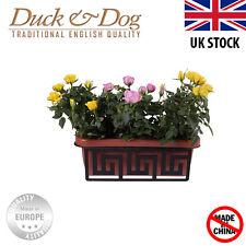 Acquista uno ottenere 2 GRATIS metallo acciaio vaso di fiori da appendere balcone giardino Pianta Fioriera