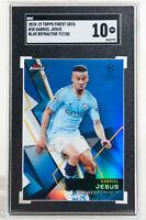 2018 Topps Finest UEFA Gabriel Jesus Blue Refractor /150 #20 SGC 10 POP 1