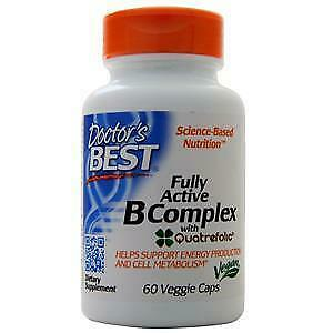 Doctor's Best Fully Active B Complex with Quatrefolic  60 vcaps