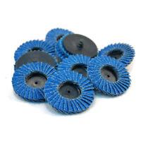 10 Stück Schleifscheiben Polieren Rost entfernen für Winkelschleifer Blau Set