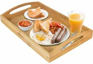 Bamboo Wood Bed Tray Table Breakfast in Bed Table Eating Laptop Lap Desk Genuine