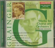 C.D.MUSIC E636   GRAINGER EDITION VOL.5. WORKS FOR CHORUS & ORCHESTRA 2  CD