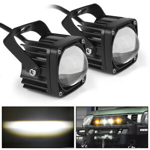 2X 20W LED Work Light Bar White Yellow Switchback Driving Offroad Truck UTV Fog