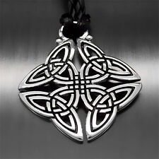 """New Fashion Celtic Knot Trinity Men Women Pewter Pendant with 20"""" Necklace P291"""