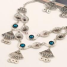 Vintage Jewelry Set Ethnic Tribal Turkish Silver Coin Statement Necklace