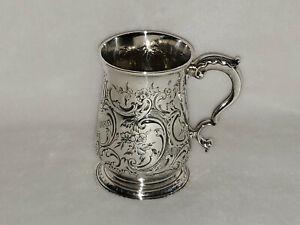 Antique Coin Silver Repousse Floral Child's Mug 1775 London - 203.6 grams