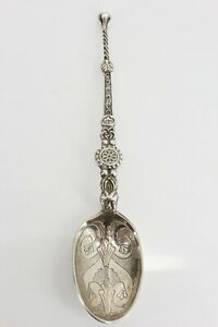 Celtic Sterling Silver Edwardian Coronation Anointing Spoon 1901 Superb. NICE1