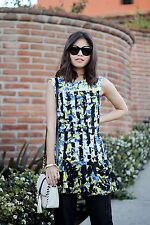 Peter Pilotto X Target Women's Drop Waist Floral Ruffle Hem Dress Size Small