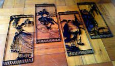 Set of 4 Rectangular Iron Wire Monkey Magic Journey to the West Pictures