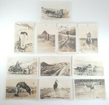 Lot Of 11 RPPC Western Nevada Desert Cowboys and Indians Real Photo Postcards