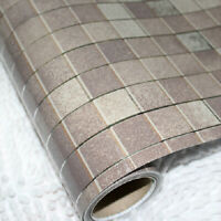 "98""Tile Contact Paper Wall Sticker Self Adhesive Mosaic Waterproof Decor Kitchen"