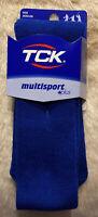 TCK Multisport +plus Tube Socks Medium Royal Blue Football Baseball Softball