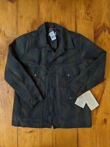 Filson Seattle Cruiser Waxed Tin Cloth Tartan Plaid Jacket Men's Large NOS New