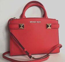 New Michael Kors Karla small EW Satchel handbag Leather Dark Sangria