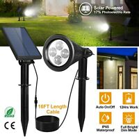 2in1 Solar Power Spot Light LED Garden Lamp Outdoor Walkway Lawn Landscape Path