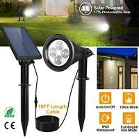 2in1 Solar Power Spot Light LED Garden Lamp Outdoor Walkway Lawn Landscape Path