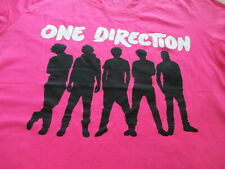 One Direction Women Pink White Black Shade Shadow Band T Shirt Size L Large