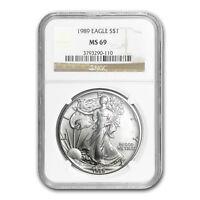 1989 Silver American Eagle MS-69 NGC - SKU #6900
