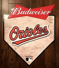 Budweiser Baltimore Orioles Baseball Tin Metal Beer Sign Man Cave BRAND NEW