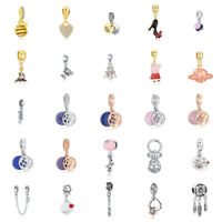 European Silver charms beads pendant for 925 sterling bracelets bangles Necklace