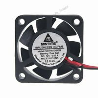 12V 2Pin Ball Bearing 40x40x10mm 40mm 4cm Mini DC Brushless Computer Cooling Fan
