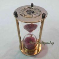 Antique Brass Nautical Sand Timer Marine Gift