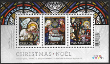 Canada Stamps -Souvenir sheet of 3 -Christmas: Stained Glass #2490 -MNH