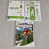 Nintendo Wii Balance Board Game Lot x 3 Wii Fit Wii Fit Plus Go Play Lumberjacks