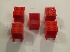 Lego 5 coffres rouges set 6949 6956 8404 4999 10218 41095 / 5 red containers
