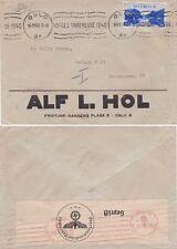 Norvège 1940 COUVERTURE de Oslo et envoyé à Berlin. censuré sur y retourner.