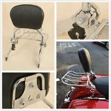 Adjustable Backrest Sissy Bar Luggage Rack For Harley Touring Street Glide 09-Up