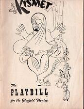 KISMET - Vintage 1954 Ziegfeld Theatre Booklet NYC - Steve Reeves, Alfred Drake