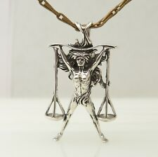 Jezlaine Lady Scales of Justice Sterling Silver Super Hero Pendant 4.5g